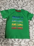 Tričko DADDY IS AWESOME MOTHERCARE