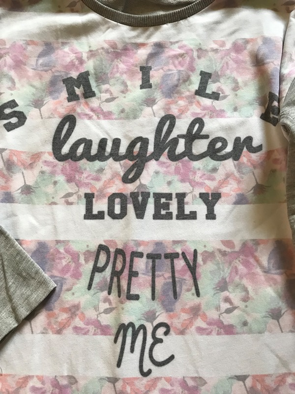 Mikina SMILE LAUGHTER PRETTY MES 152-158cm