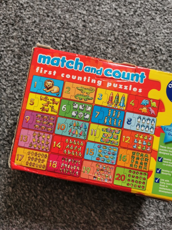 Puzzle MATCH AND COUNT ORCHARD TOYS Angl.