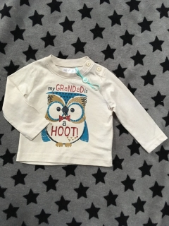 Tricko MY GRANDADS A HOOT BABY M&CO NOVY
