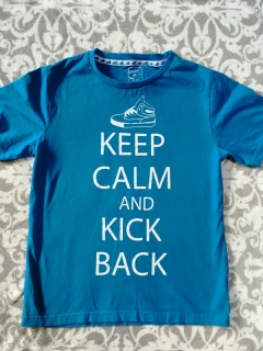 Tričko KEEP CALM AND KICK BACK REBEL