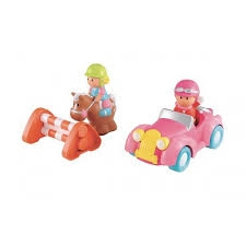 HAPPYLAND PLAYSET VINTAGE CAR AND HORSE