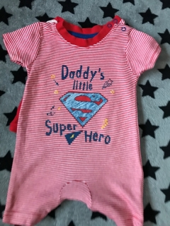 Overálek DADDY'S LITTLE SUPER HERO
