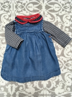 Denim Saticky + Top 56/62cm NEXT/MAMAS AND PAPAS