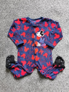 Fleece overálek MICKEY MOUSE na zip DISNEY 98cm