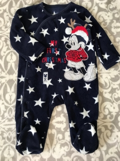 Fleece overálek MICKEY MOUSE MY FIRST CHRISTMAS DISNEY