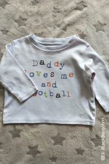 Tričko MY DADDY LOVES FOOTBALL AND ME GEORGE