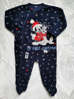 Fleece overálek MY FIRST CHRISTMAS MICKEY MOUSE DISNEY