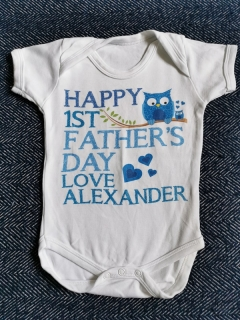 Body HAPPY FIRST FATHERSDAY FROM ALEXANDER vel.68cm