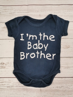 Body I AM THE BABY BROTHER 62cm
